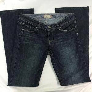 Paige Dark Wash Laurel Canyon Boot Cut Jeans